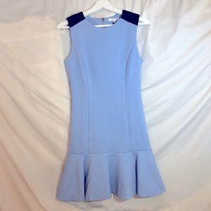 Lucy Paris NWT Light Blue dress w/flutter bottom